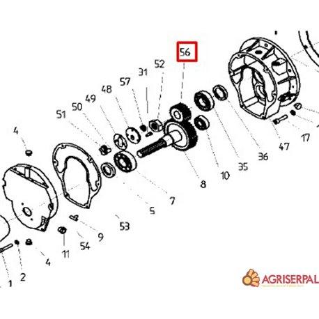 N.56. Piñón para 1000 rpm KD-6500/14000